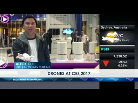 Drones everywhere at CES 2017 - Aleck Cui - EBC Las Vegas bureau