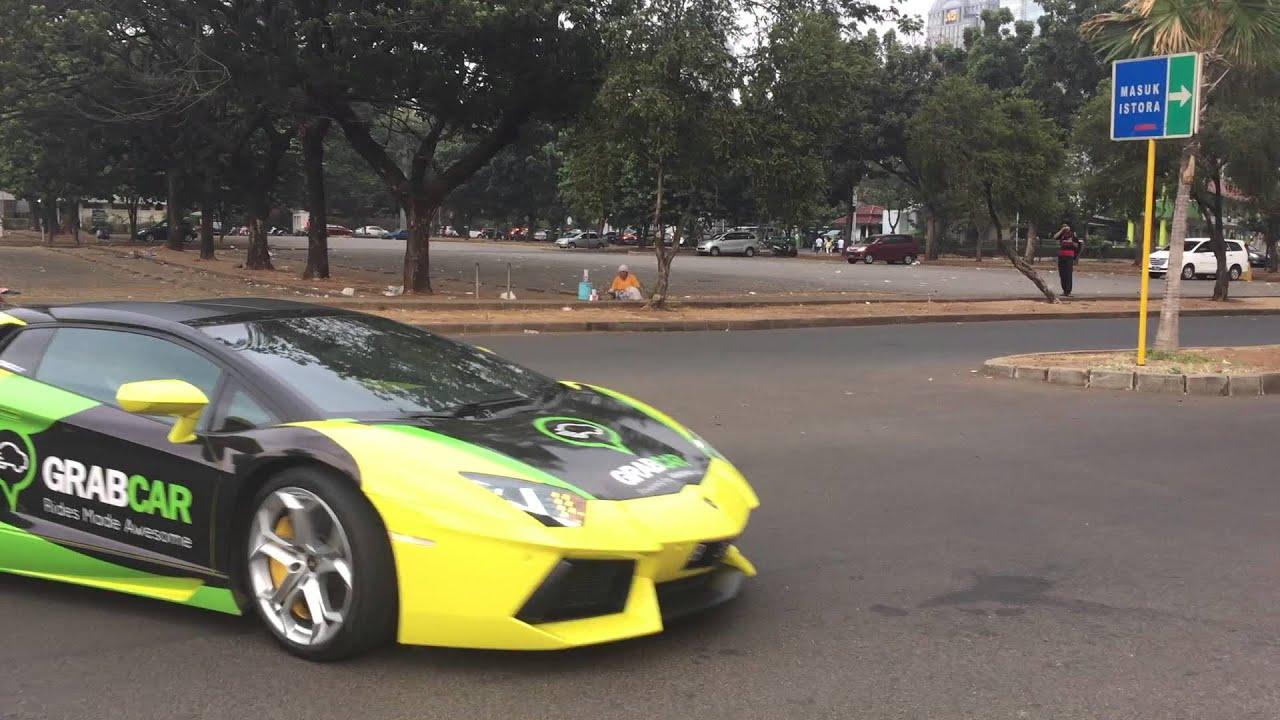 Taxi Car Lamborghini Aventador Startup By Grabcar Taxi Indonesia