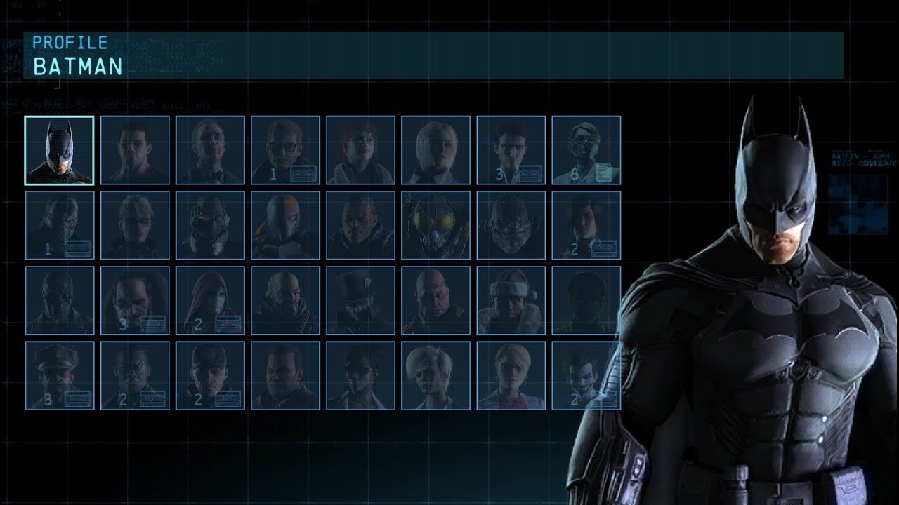 Batman: Arkham Origins - Character BIOS & Extortion Data ...
