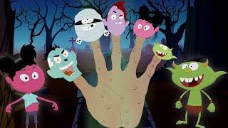 Gia đình ngón tay quái vật | bài hát halloween | ươm vần | Monster Finger Family | Kids Tv Channel
