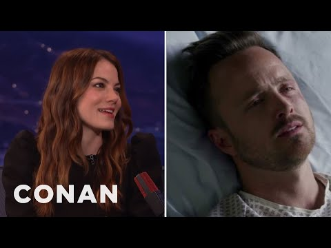 Michelle Monaghan: Aaron Paul And I Are Very Unprofessional   CONAN on TBS