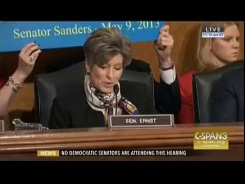 Ernst Expresses Disappointment in Democrats
