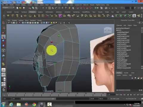 Modeling a head from a plane