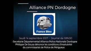 France Bleu : Etat d'insalubrité à l'Hôtel de Police de Périgueux