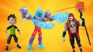 Видео про игрушки Бен 10! Хекс устроил Землетрясение! Игры для мальчиков с Бен Тен