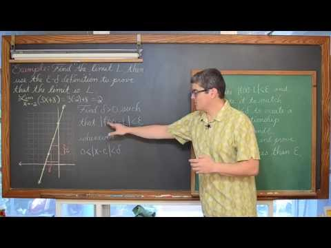 Definition of a Limit Epsilon Delta Proof 3 Examples