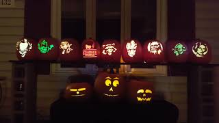 My Halloween Singing Pumpkins Display