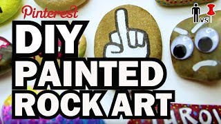 DIY Painted Rock Art - Man vs Pin