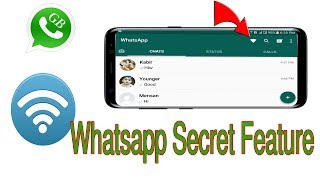 GB Whatsapp Messenger : Whatsapp Secret Wifi Button A Hidden Features #HelpingMind