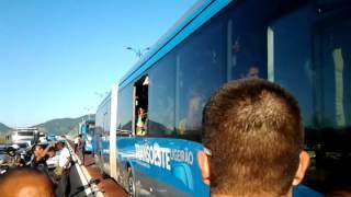 Confusão no BRT - Quebra-Quebra