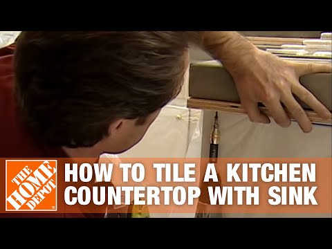 tile for kitchen countertops pub style set how to a countertop with sink part 2 the home depot youtube