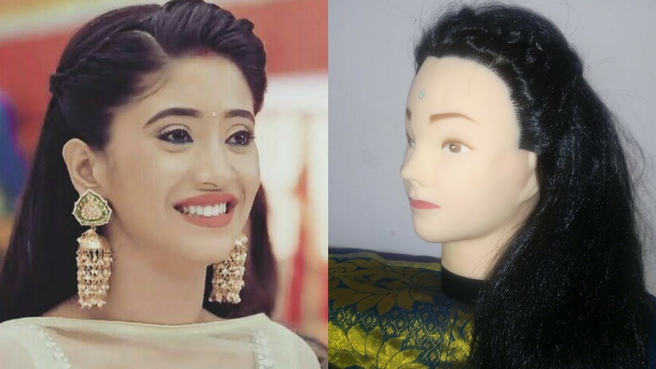 naira hairstyle in yrkkh|diwali 2017 hairstyles|front braid hairstyles  indian