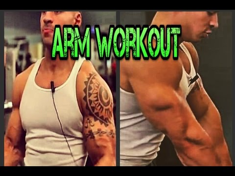 Bodybuilding Arm Workout, How to Tone Your Arms! Bicep/Tricep Superset Routine