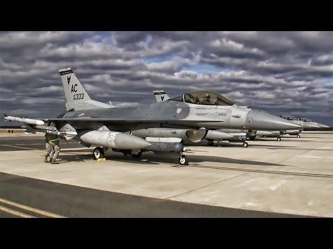 Jersey Devils • F-16 Fighter Jet Flight Line + Takeoffs