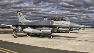 Jersey Devils • F-16 Fighter Jet Flight Line + Takeoffs