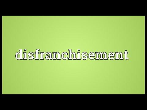Header of disfranchisement