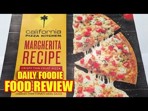 CPK Margherita Pizza Review - Crispy Thin Crust - California Pizza ...