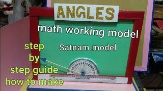 Types of angles model for school project | working maths project for class 10th | maths model