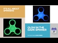 default - Balai Fidget Spinner Toy Glowing Hand Spinner Perfect For ADD, ADHD, Anxiety, and Stress Relief (Fluorescence)