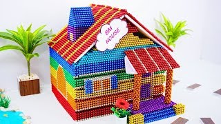 DIY - How To Build Amazing Dollhouse And Pool With Magnetic Balls (Satisfaction) - Magnetic King