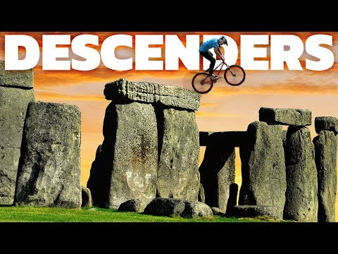 Descenders - Riding Stonehenge, Jumping A Train! - Mountain Biking Simulator - Descenders Gameplay