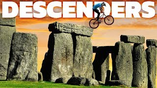 Descenders - Riding Stonehenge, Jumping A Train! - Mountain Biking Simulator - Descenders Gameplay