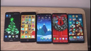 Huawei Mate 10 Pro vs OnePlus 5T vs iPhone 8 Plus vs Mi Mix 2 vs Note 8 - Speed Test!