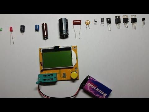 Testing Mega 328 ESR Meter LCR  led Transistor Tester  Diode Triode Capacitance  MOS PNP/NPN