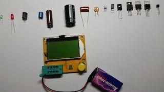 testing mega 328 esr meter lcr led transistor tester diode triode capacitance mos pnp npn