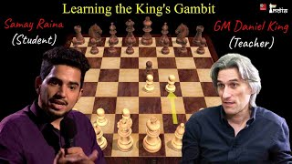 Samay Raina Learns the King's Gambit from GM Daniel King