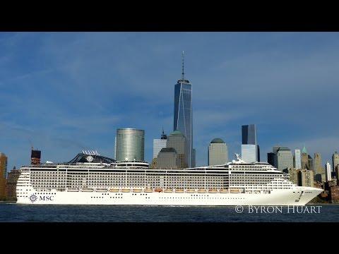 MSC Divina New York arrival & departure reel