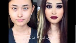 Сила макияжа!! ТОП-20 девушки с макияжем и без!! Перевоплощение