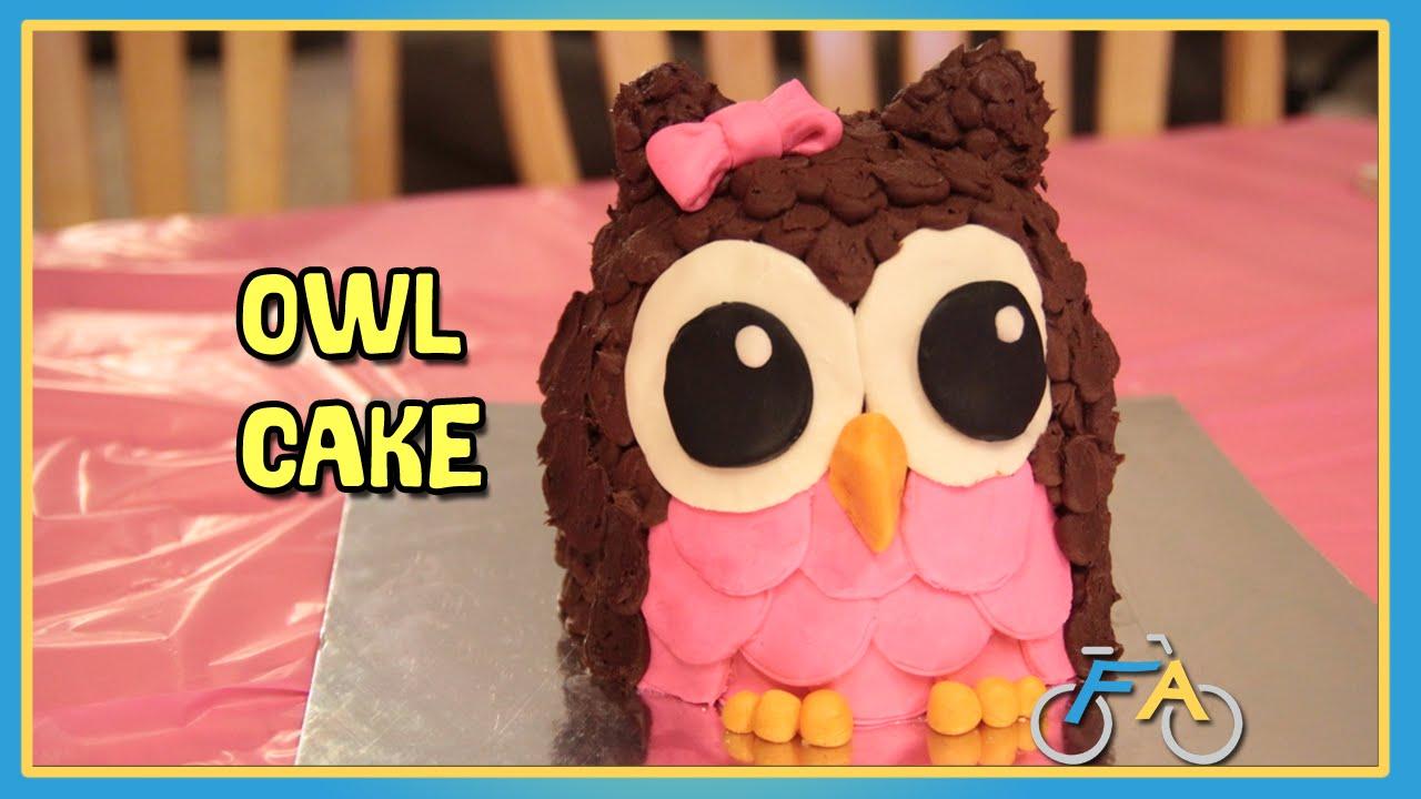 HOW TO MAKE A CUTE OWL CAKE YouTube
