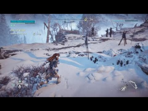 Horizon Zero Dawn The Frozen Wilds Part 4 Bandit Camp Fire Boss