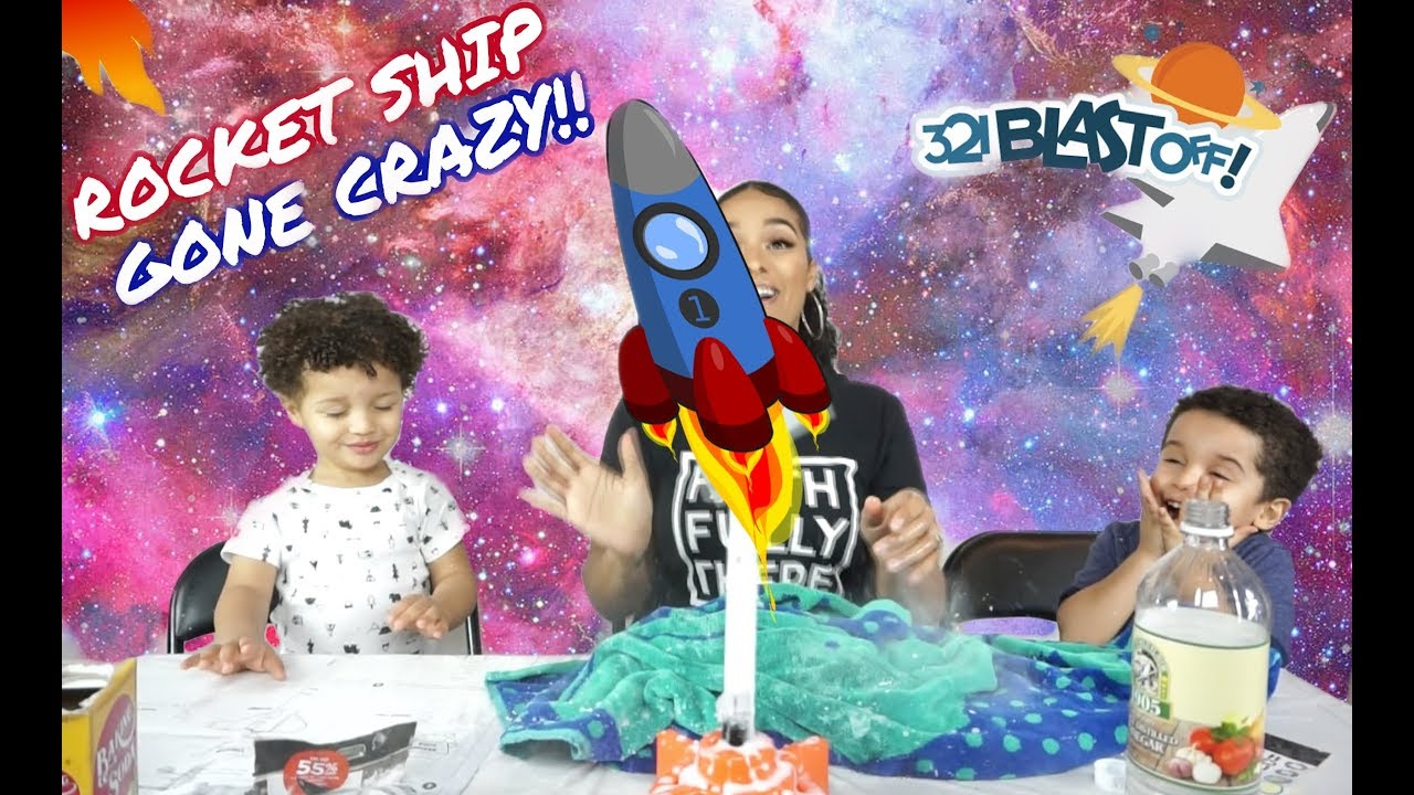 how to make a rocket ship for kids