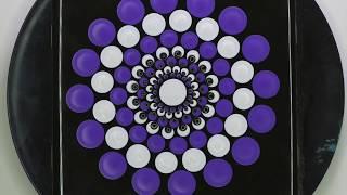 How to Paint Freehand Peacock Top Dot Mandala Tutorial using Marks Mandalas Dotting Tools