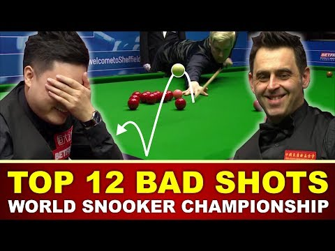 TOP 12 BAD SHOTS | World Snooker Championship 2017