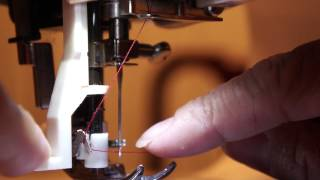 HOW TO USE THE AUTOMATIC NEEDLE THREADER ON A SINGER SEWING MACHINE  4166 tutorial