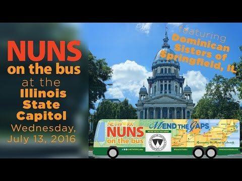 Nuns on the Bus at the Illinois State Capitol