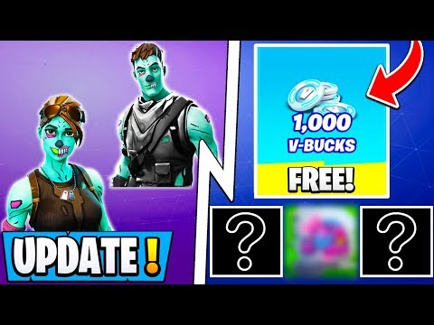 *NEW* Fortnite Update! | Collect Free Vbucks & 6 Rewards Now, Ghoul Trooper Release!