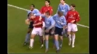 The dirty side of Manchester Derby   Fights, Brawls, Fouls & Red Cards