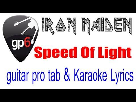 Iron Maiden -  Speed Of Light -  Guitar Pro Tab - Lyrics  Karaoke