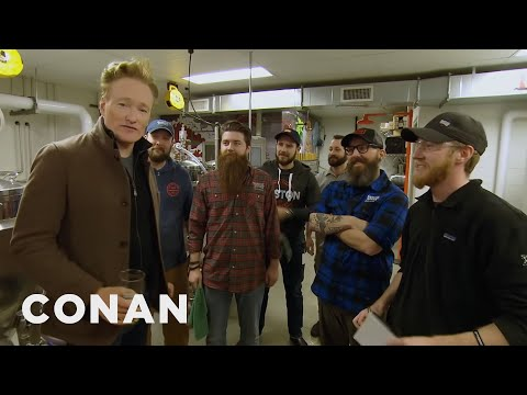 Conan Visits The Samuel Adams Brewery