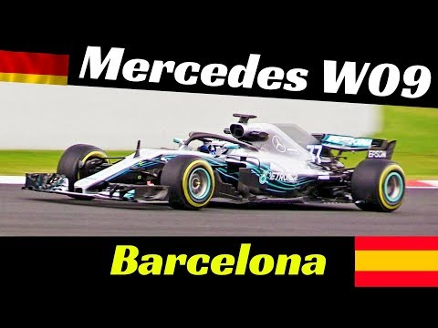 Mercedes W09 Formula One [F1] - 2018 Official Pre-Season Tests - Montmelò (Barcelona) Highlights