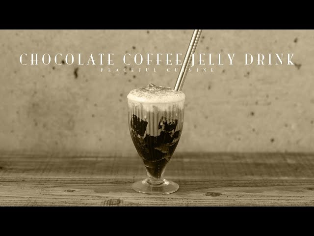 [No Music] How to make Chocolate Coffee Jelly Drink
