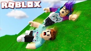Roblox Adventures - SURVIVE ROLLING DOWN 9999 FEET IN ROBLOX! (Ultimate Marble Rider)
