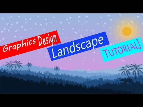 How to make a LANDSCAPE/ Graphics Design tutorial thumbnail