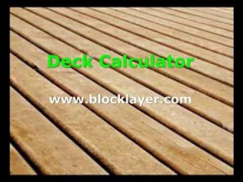 Deck Board Calculator Www Blocklayer