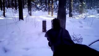 Травматический пистолет  Кордон-5 видео стрельбы(Купил Кордон-5,5 зарядов ,а патроны такие же как в осе.На видео отстрелял 2 патрона на пробу.Бьет точно по лазе..., 2011-03-07T14:28:24.000Z)