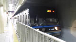 横浜市営地下鉄3000N形3381F 普通 新羽ゆき 関内発車